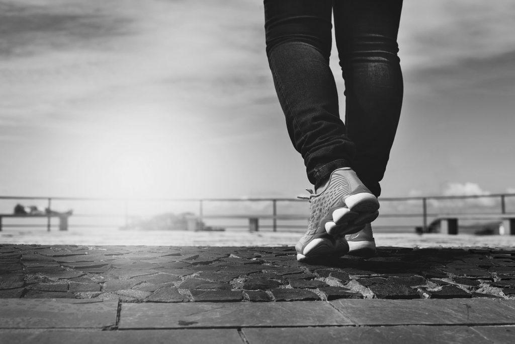 Photograph of a runner