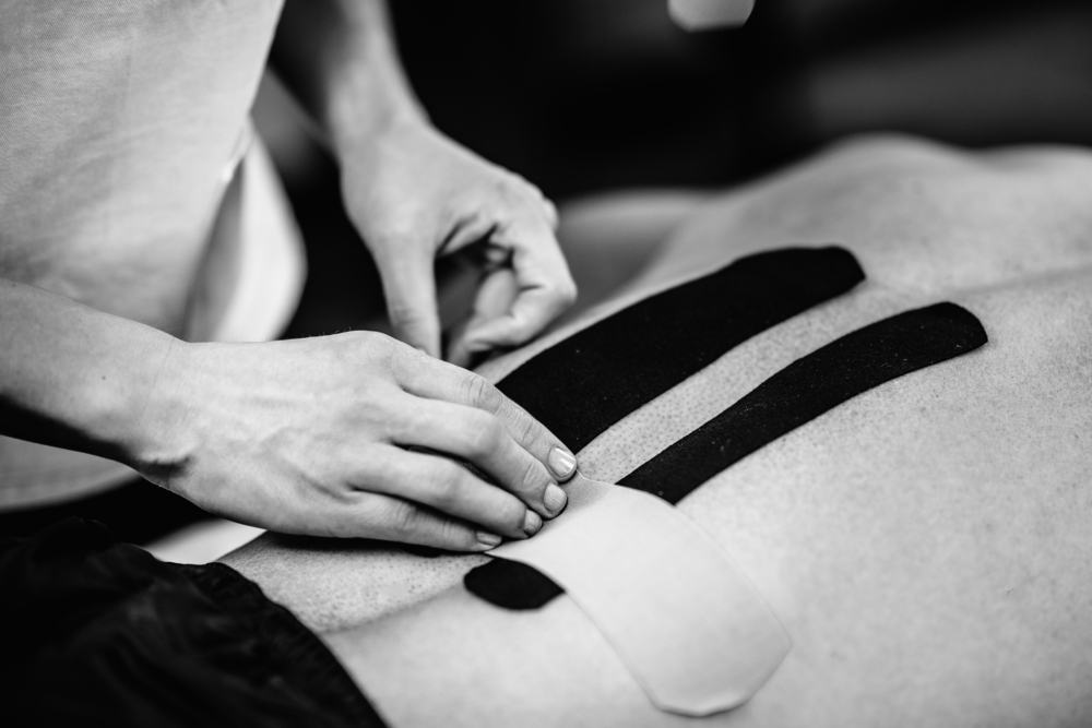 Image of taping on the lower back